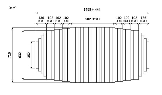 変形巻きふた 710mm×1458mm