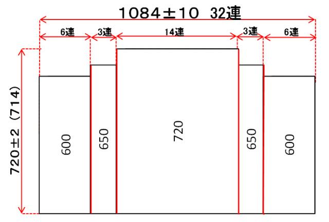 変形巻きふた 720mm×1084mm