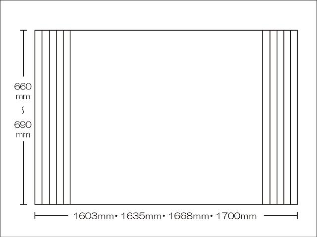 【送料無料】東プレ 純銀のチカラでお手入れ簡単!溝の奥まで丸洗い!オーダーAgイージーウェーブ660~690×1603・1635・1668・1700mm