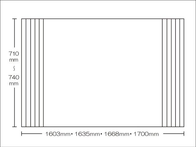 【送料無料】東プレ 純銀のチカラでお手入れ簡単!溝の奥まで丸洗い!オーダーAgイージーウェーブ710~740×1603・1635・1668・1700mm