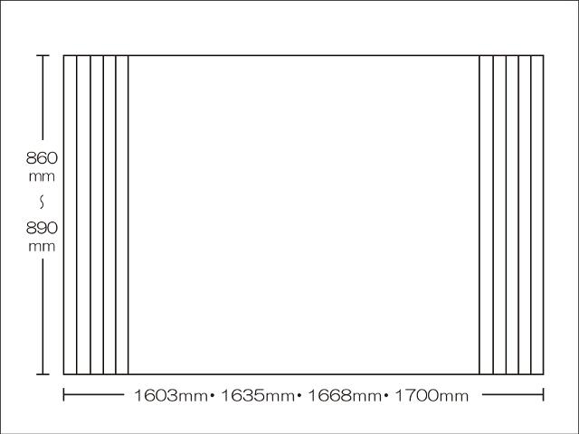 【送料無料】東プレ 純銀のチカラでお手入れ簡単!溝の奥まで丸洗い!オーダーAgイージーウェーブ860~890×1603・1635・1668・1700mm