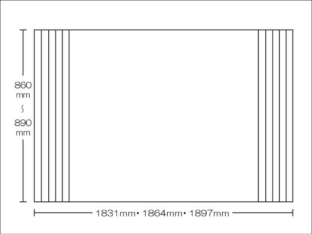 【送料無料】東プレ お掃除カンタン!オーダーイージーウェーブ 860~890×1831・1864・1897mm