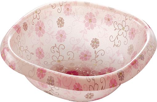 【送料無料】オシャレなアクリル製の洗面器 フィルロシュシュ ウォッシュボールS コラールピンク