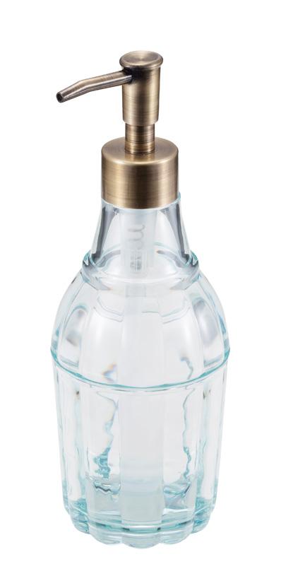 【アウトレット】ガラスのような質感 ハンドソープ入れにピッタリ! ucaソープボトル レニ