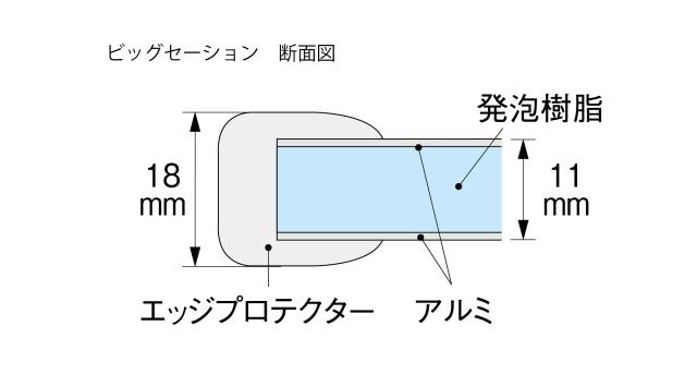 ビッグセーション1800x2480mm 6枚割 Rなし