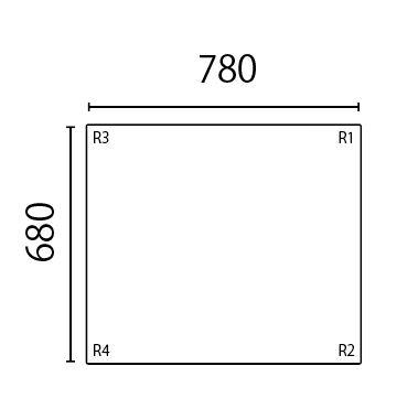 【送料無料】さめにくい風呂ふた「ECOウォームneo」特別サイズ  奥行680mm×間口780mm 1枚割