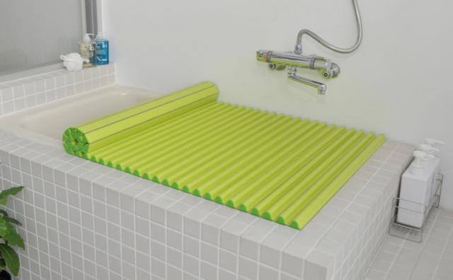 【送料無料】東プレ カラーイージーウェーブ抗菌風呂ふた M14 グリーン 70×140cm用