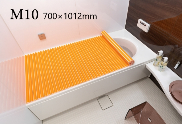 【送料無料】東プレ お掃除カンタン!カラーウェーブ風呂ふた M10 オレンジ 70×100cm用