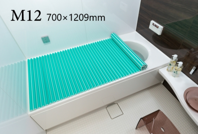 【送料無料】東プレ お掃除カンタン!カラーウェーブ風呂ふた M12 グリーン 70×120cm用
