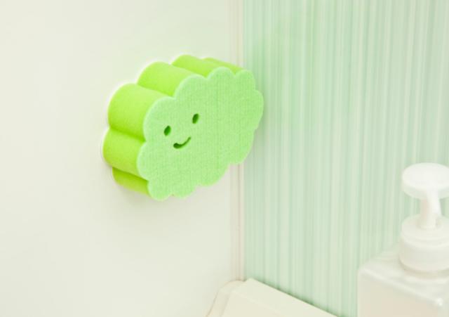【日本製】お風呂掃除も可愛く!貼りつくバスクリーナー 740000760-61