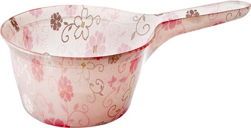 【送料無料】オシャレなアクリル製の手桶 フィルロシュシュ ハンドペール コーラルピンク