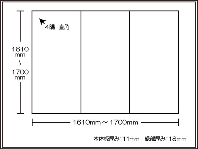 【日本製】寮や民宿などの大型浴槽のお風呂のふた ビックセーション1610~1700×1610~1700mm 3枚割