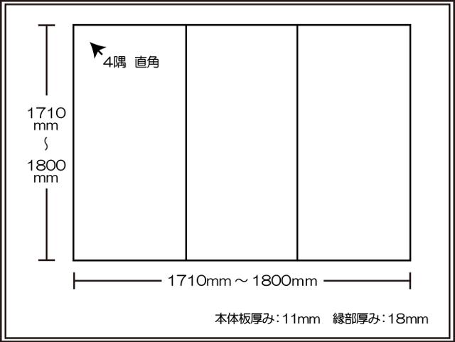 【日本製】寮や民宿などの大型浴槽のお風呂のふた ビックセーション1710~1800×1710~1800mm 3枚割