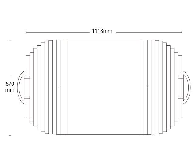取っ手付き変形巻きふた 670mm×1118mm