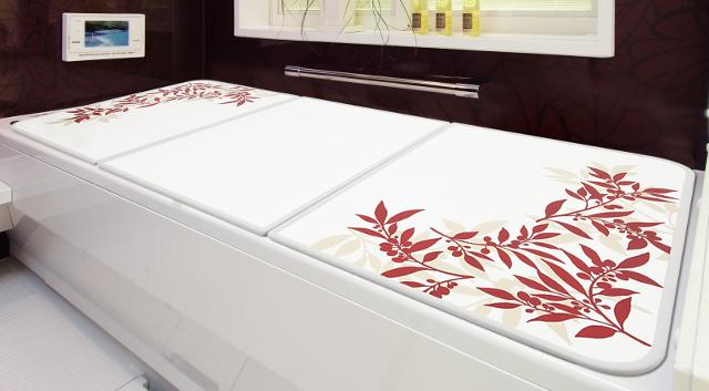 【送料無料】アルミ組み合わせ風呂ふた オリーブ U12 68×118cm 3枚割