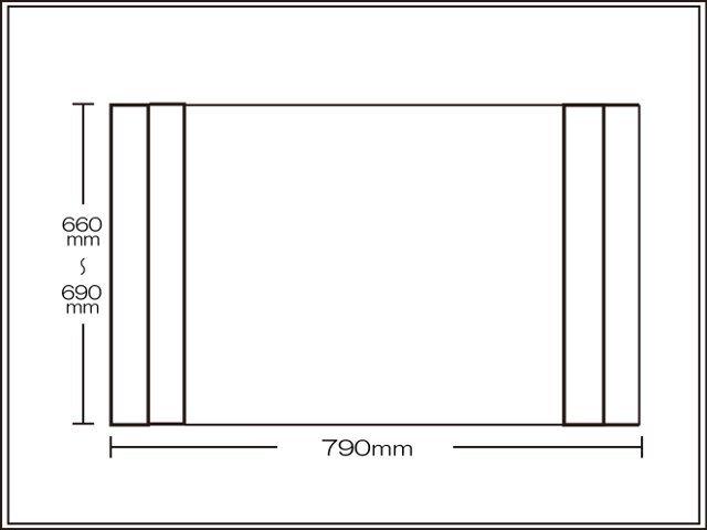 【送料無料】コンパクト収納!折りたたみふた ラクネス オーダー660~690×790mm用 アイボリー