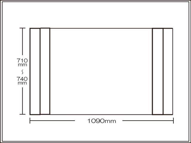 【送料無料】コンパクト収納!折りたたみふた ラクネス オーダー710~740×1090mm用 アイボリー
