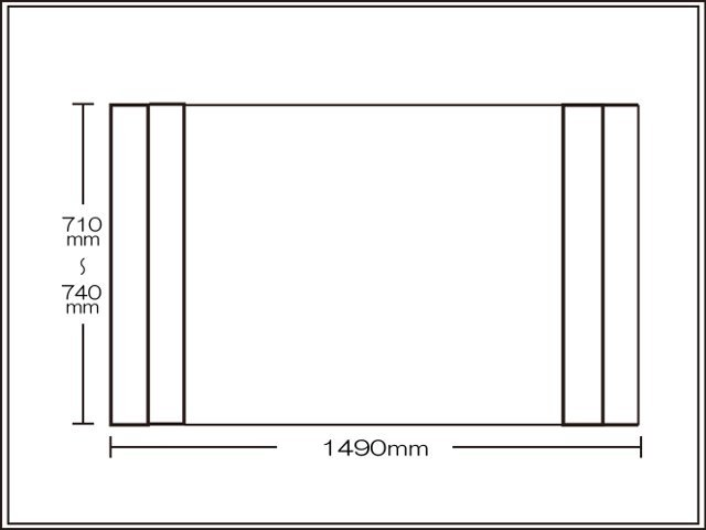 【送料無料】コンパクト収納!折りたたみふた ラクネス オーダー710~740×1490mm用 アイボリー