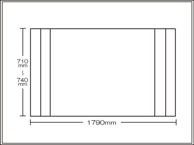 【送料無料】コンパクト収納!折りたたみふた ラクネス オーダー710~740×1790mm用 アイボリー