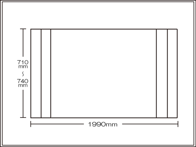 【送料無料】コンパクト収納!折りたたみふた ラクネス オーダー710~740×1990mm用 アイボリー