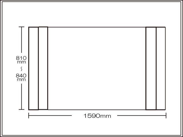 【送料無料】コンパクト収納!折りたたみふた ラクネス オーダー810~840×1590mm用 アイボリー