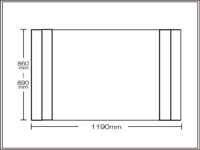 【送料無料】コンパクト収納!折りたたみふた ラクネス オーダー860~890×1190mm用 アイボリー