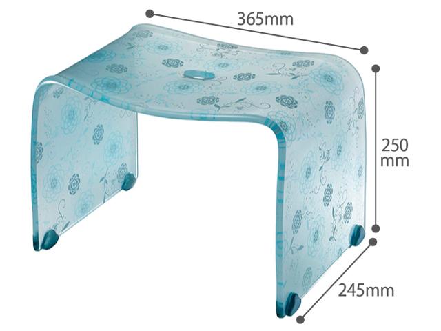 風呂の日の特別価格【送料無料】お手入れ簡単♪オシャレなアクリル製の風呂いす フィルロシュシュ バスチェアーM ペールブルー