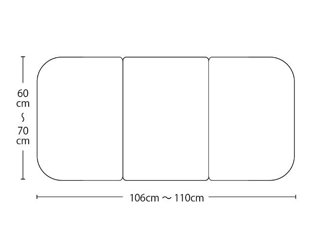 【送料無料】オーダーメイド冷めにくいneo風呂ふた 奥行55~70×間口106~110cm 3枚割