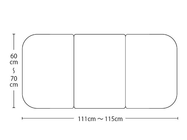 【送料無料】オーダーメイド冷めにくいneo風呂ふた 奥行55~70×間口111~115cm 3枚割
