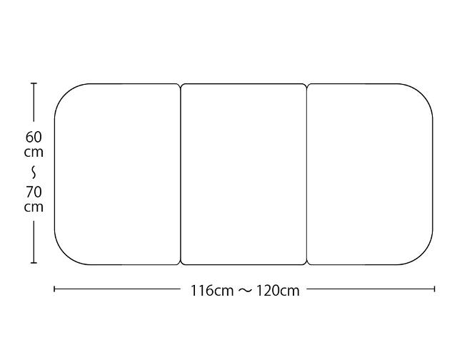 【送料無料】オーダーメイド冷めにくいneo風呂ふた 奥行55~70×間口116~120cm 3枚割