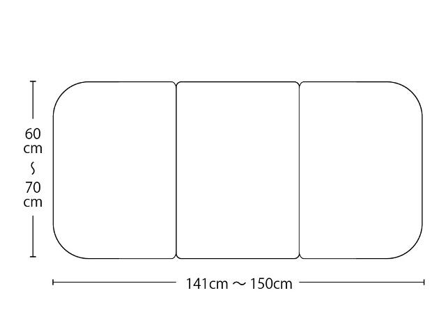 【送料無料】オーダーメイド冷めにくいneo風呂ふた 奥行55~70×間口141~150cm 3枚割