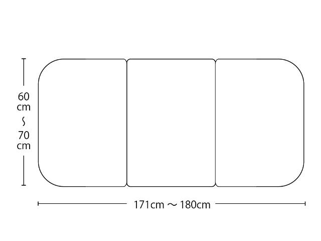 【送料無料】オーダーメイド冷めにくいneo風呂ふた 奥行55~70×間口171~180cm 3枚割