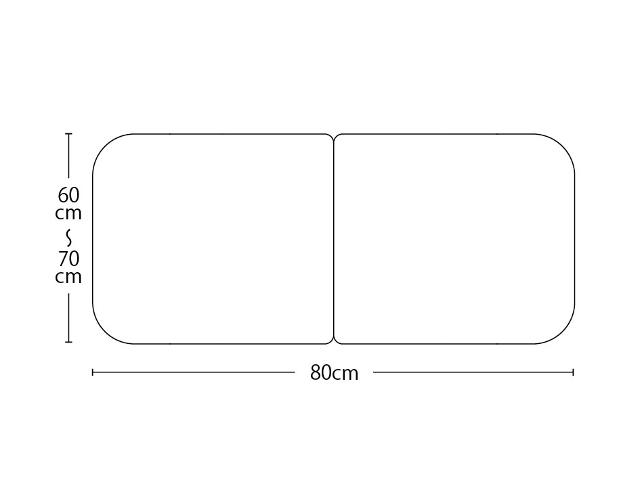 【送料無料】オーダーメイド冷めにくいneo風呂ふた 奥行55~70×間口80cm 2枚割