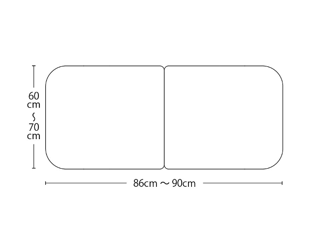【送料無料】オーダーメイド冷めにくいneo風呂ふた 奥行55~70×間口86~90cm 2枚割