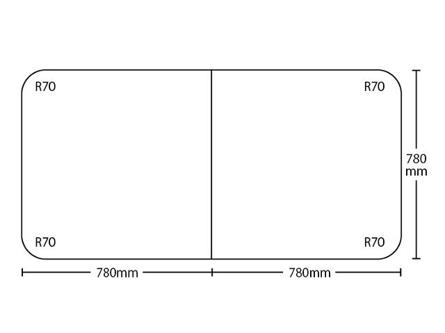 【送料無料】冷めにく~い風呂ふた特別サイズ 奥行780mm×間口1560mm 2枚割