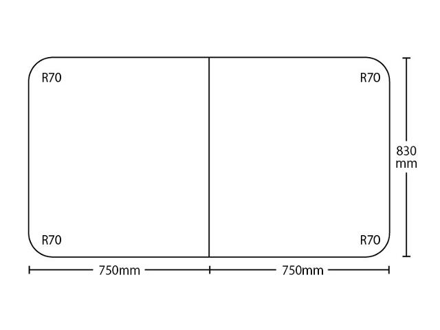 【送料無料】冷めにく~い風呂ふた特別サイズ 奥行830mm×間口1500mm 2枚割