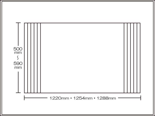 【送料無料】くるくる巻ける巻きふた オーダーシャッターふた500~590×1220・1254・1288