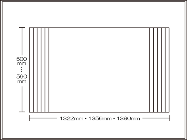 【送料無料】くるくる巻ける巻きふた オーダーシャッターふた500~590×1322・1356・1390