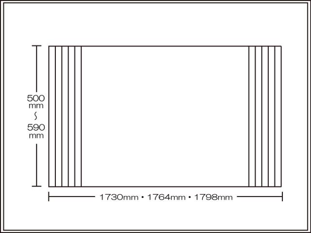 【送料無料】くるくる巻ける巻きふた オーダーシャッターふた500~590×1730・1764・1798