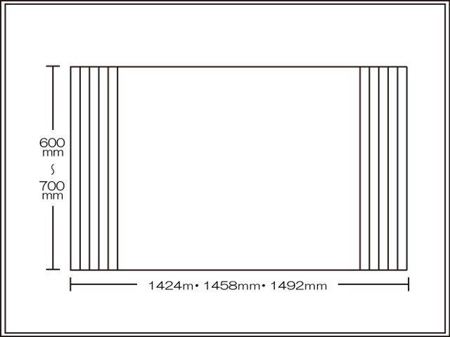 【送料無料】くるくる巻ける巻きふた オーダーシャッターふた600~700×1424・1458・1492mm