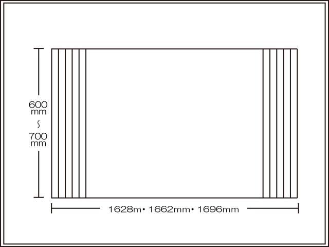 【送料無料】くるくる巻ける巻きふた オーダーシャッターふた600~700×1628・1662・1696mm