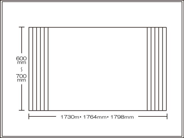 【送料無料】くるくる巻ける巻きふた オーダーシャッターふた600~700×1730・1764・1798mm
