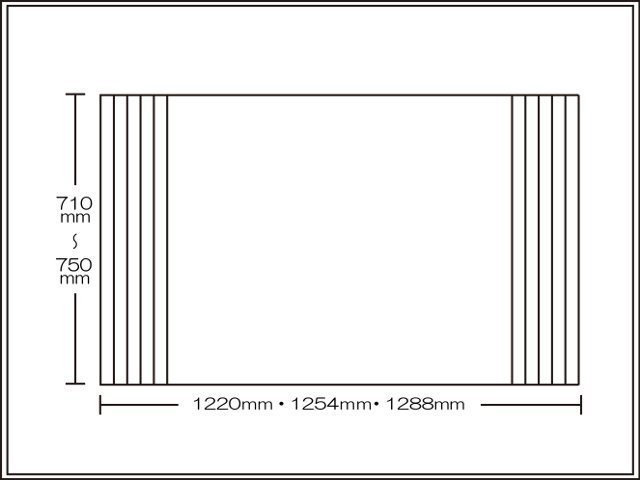 【送料無料】くるくる巻ける巻きふた オーダーシャッターふた710~750×1220・1254・1288mm