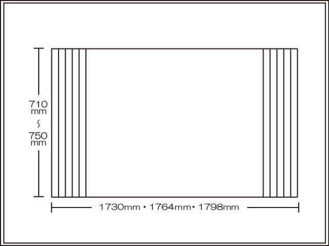 【送料無料】くるくる巻ける巻きふた オーダーシャッターふた710~750×1730・1764・1798mm