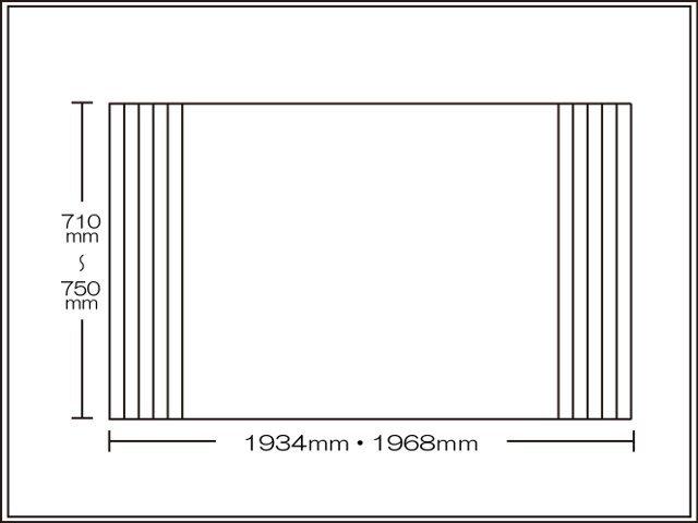 【送料無料】くるくる巻ける巻きふた オーダーシャッターふた710~750×1934・1968mm