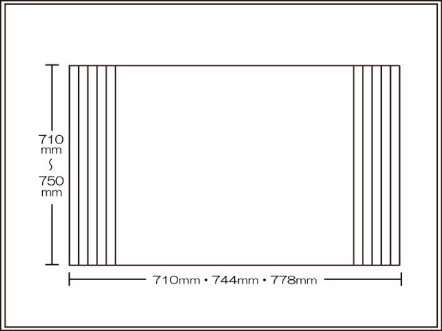【送料無料】くるくる巻ける巻きふた オーダーシャッターふた710~750×710・744・778mm