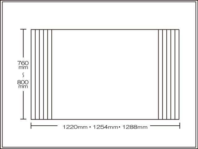 【送料無料】くるくる巻ける巻きふた オーダーシャッターふた760~800×1220・1254・1288mm
