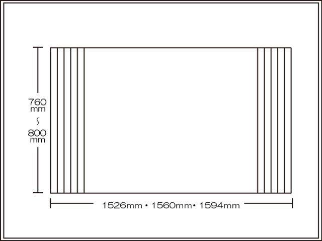 【送料無料】くるくる巻ける巻きふた オーダーシャッターふた760~800×1526・1560・1594mm