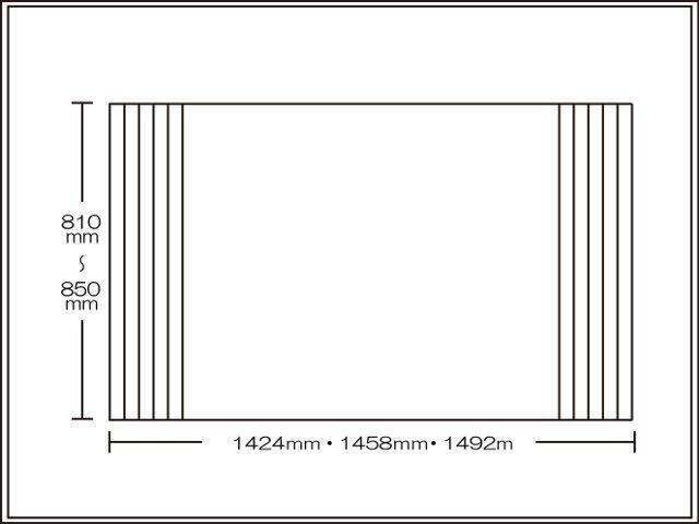 【送料無料】くるくる巻ける巻きふた オーダーシャッターふた810~850×1424・1458・1492mm