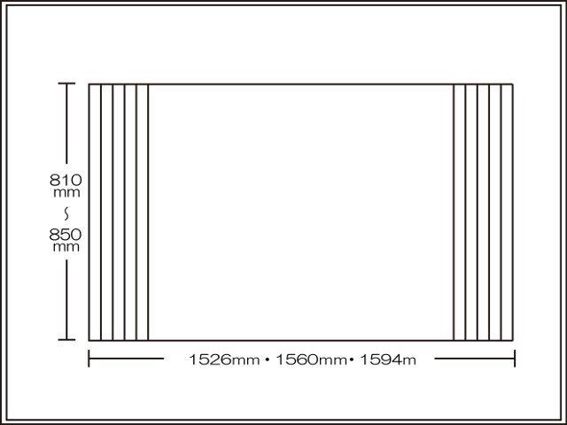 【送料無料】くるくる巻ける巻きふた オーダーシャッターふた810~850×1526・1560・1594mm